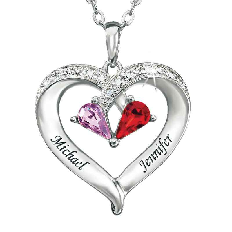 Forever Together Birthstone  Diamond Heart Pendant 4301 003 2 1