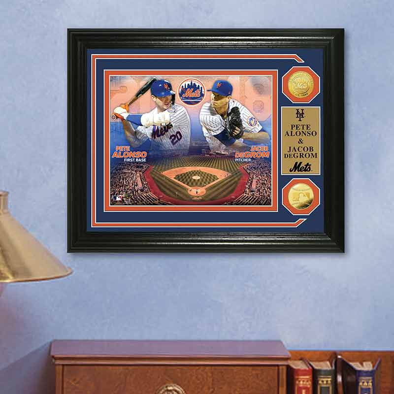 Pete Alonso  Jacob deGrom Duel 2020 Photo Collage 4392 166 7 3