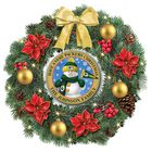 Green Bay Packers Personalized Lighted Christmas Wreath 1313 001 8 1