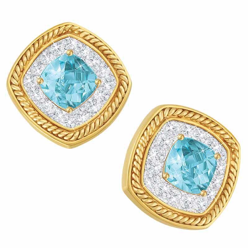 Bold  Beautiful Blue Topaz Earrings 2124 001 5 1