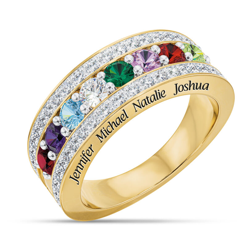 My Loved Ones Name Engraved Birthstone Diamond Ring 10460 0010 a main
