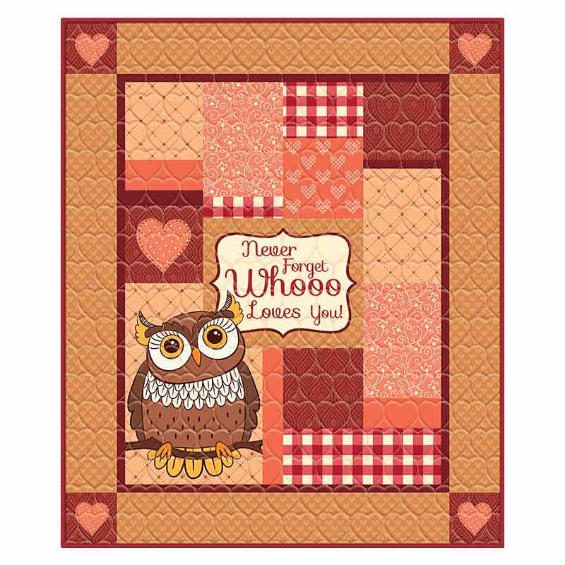 Never Forget Whooo Loves You Granddaughter Owl Quilt 6178 001 1 1