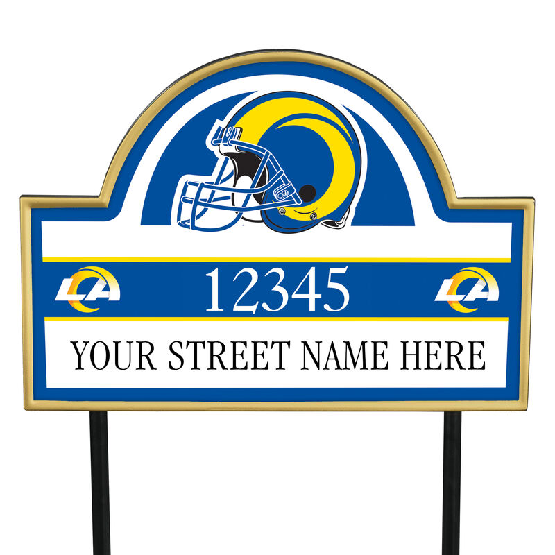 NFL Pride Personalized Address Plaques 5463 0405 a rams