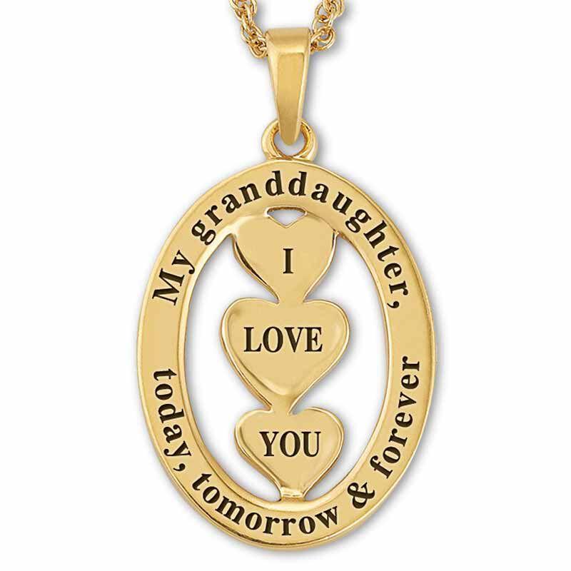 My Granddaughter I Love You Diamond Pendant 5185 001 4 3