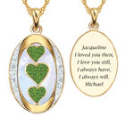 I Love You Custom Birthstone and Diamond Pendant 10702 0018 h july