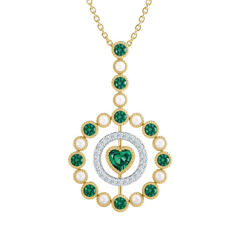 Love Embrace Birthstone Diamond Necklace 6928 0014 e may