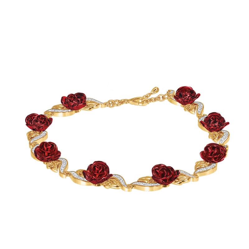 A Dozen Roses Heart Bracelet and Earring Set 6308 0022 b bracelet