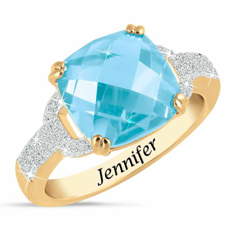 Birthstone  Diamond Ring 1159 001 5 12