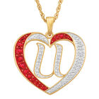 Personalized Diamond Initial Heart Pendant with FREE Poem Card 2300 0060 u initial
