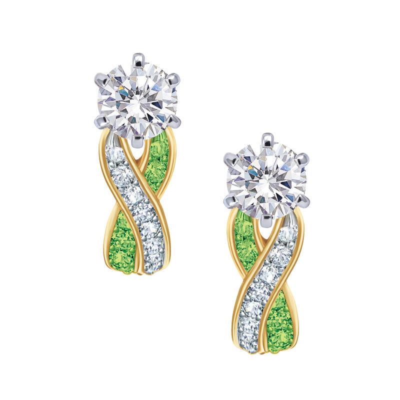 Birthstone Swirl Earrings 6503 0033 h august