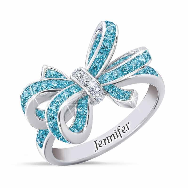 Birthstone  Diamond Bow Ring 1876 001 7 3
