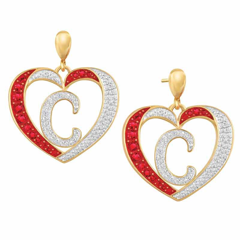 Personalized Diamond Initial Heart Set 2300 005 2 3