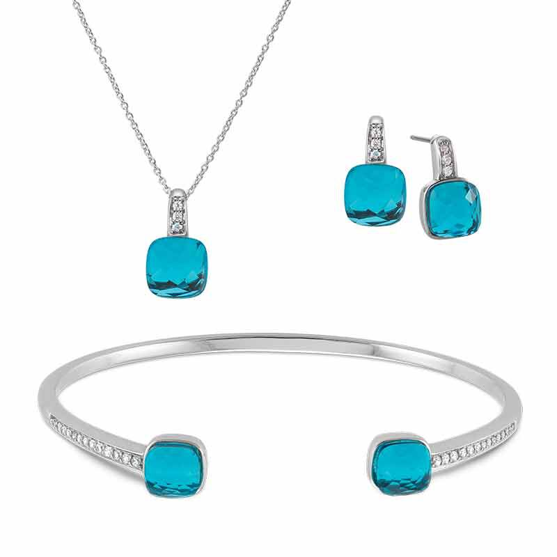Everywhere Elegance Pendant Bangle  Earring Set 6247 001 8 1