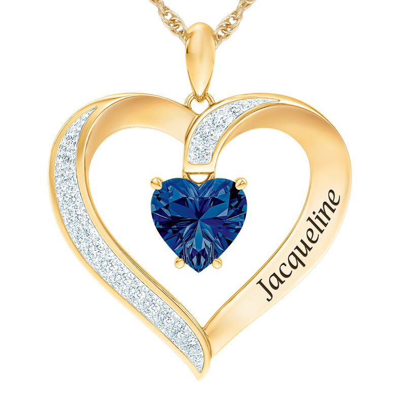 The Birthstone Heart Pendant 6015 0026 i september
