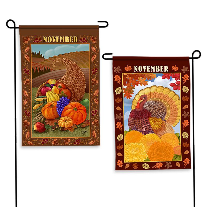 Year of Cheer Garden Flags 6547 0015 d November