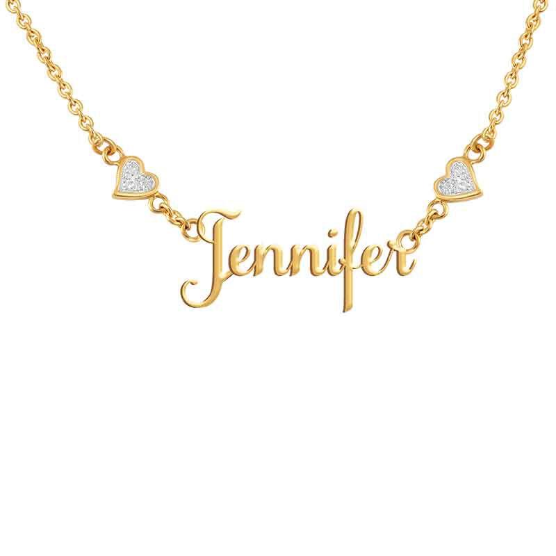 Granddaughter Signature Diamond Necklace 1874 001 9 3