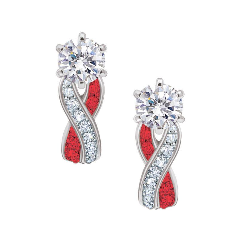 Birthstone Swirl Earrings 6366 0021 g july