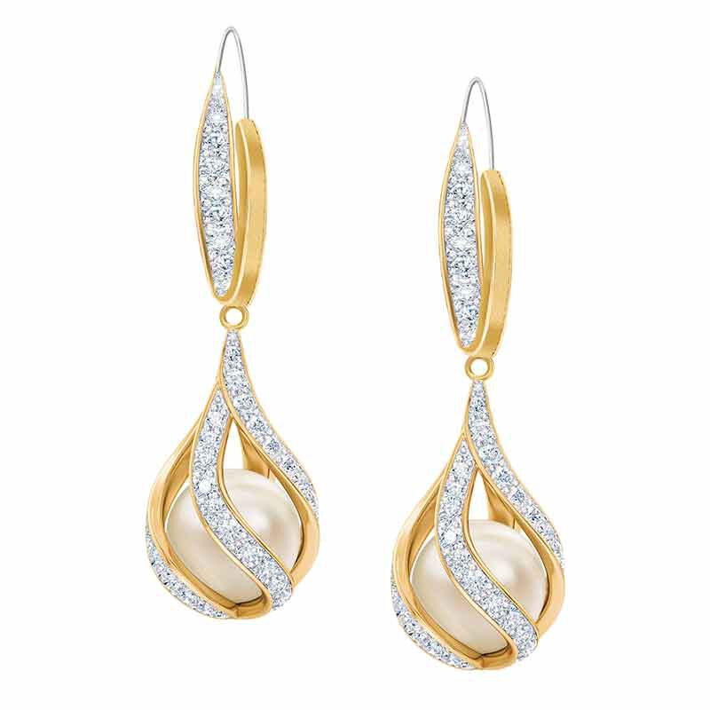 Embraced with Love Granddaughter Pearl  Diamond Earrings 2274 005 4 1