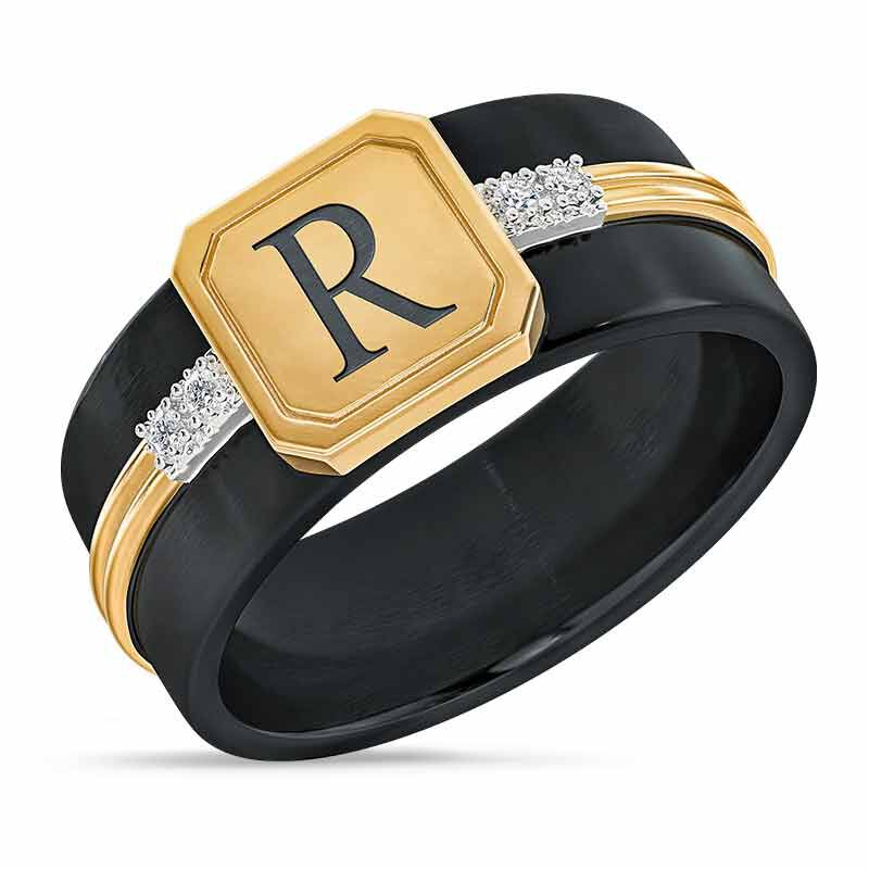 The Personalized Diamond Heritage Mens Ring 4998 001 4 1