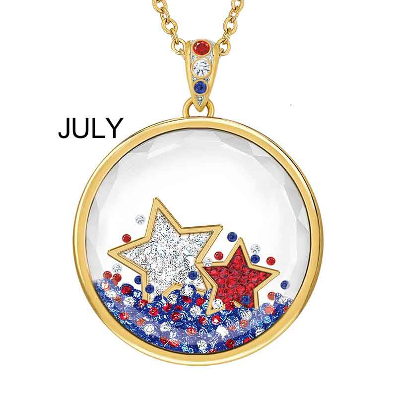 Year of Cheer Floating Crystal Pendants 1553 001 7 8