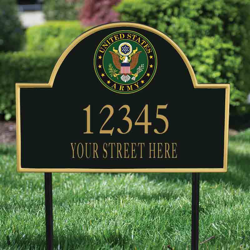 US Army Address Plaque 5718 001 0 2