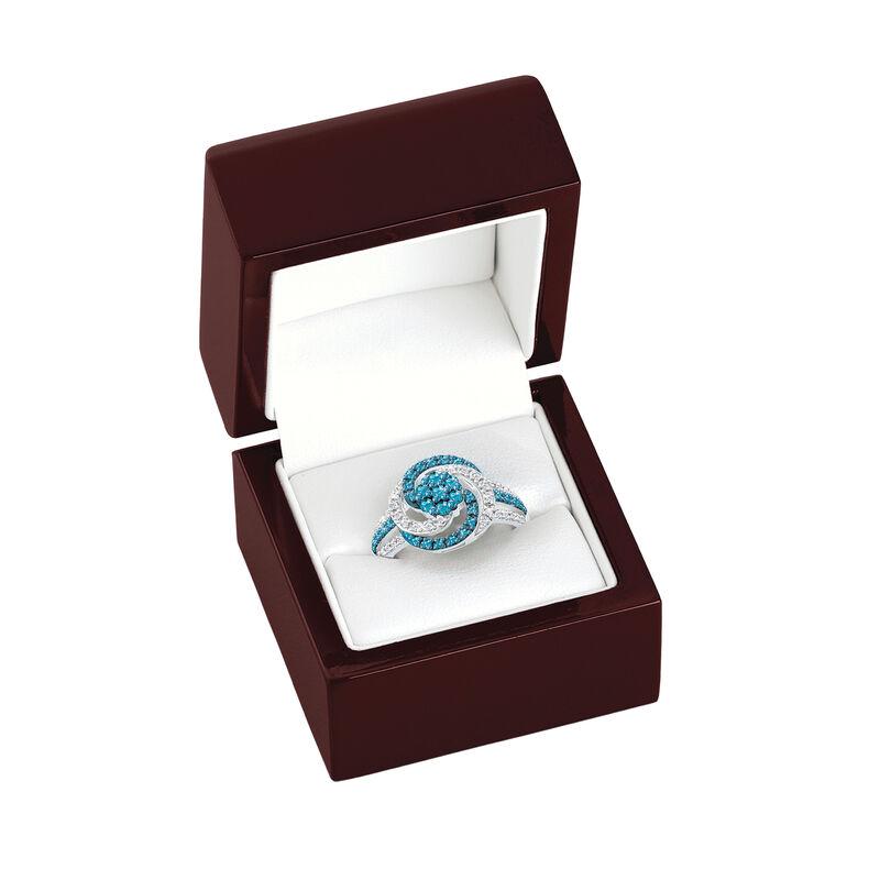 Simply Stunning Blue White Diamond Ring 6533 0011 g gift box