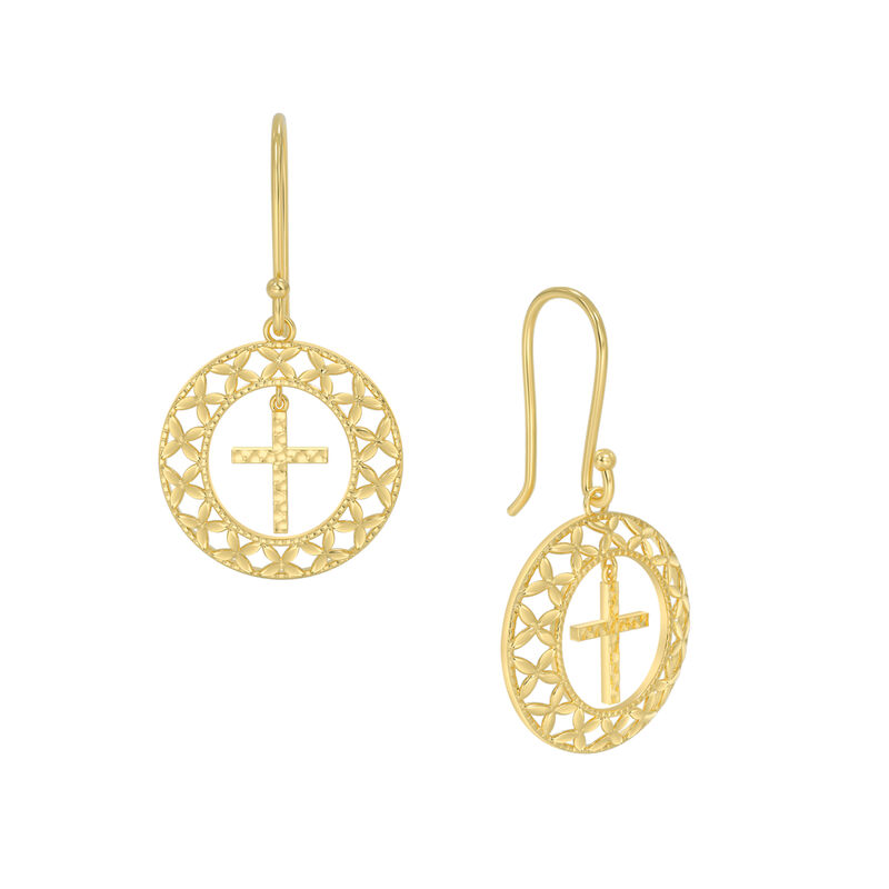 Shining Light Cross Pendant Earring Set 10227 0014 b earrings