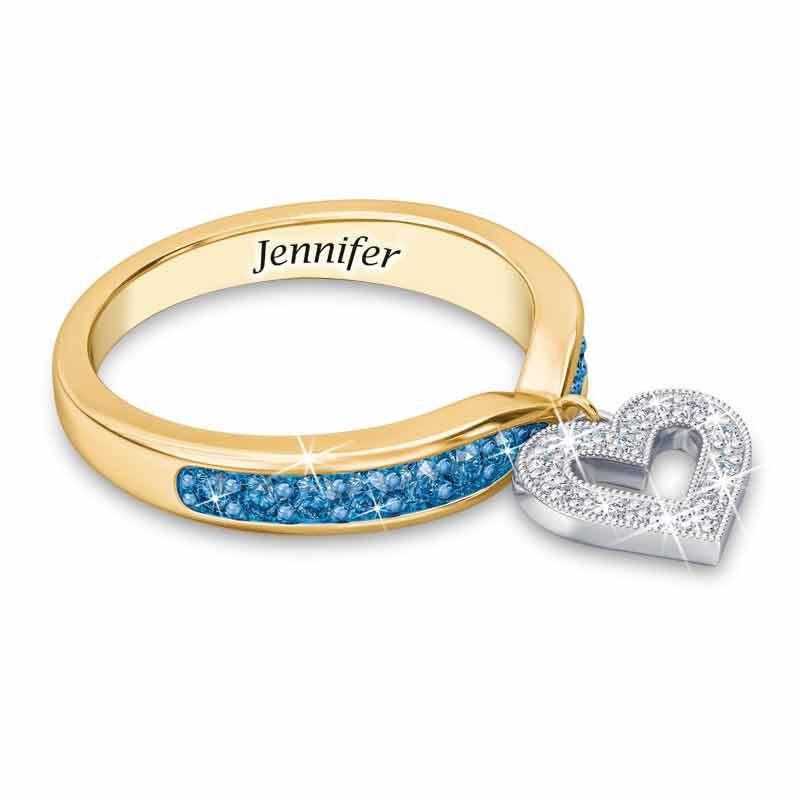 Birthstone  Diamond Charm Ring 2145 002 8 12