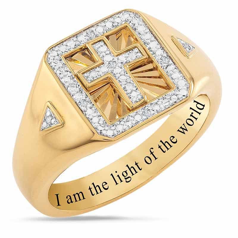Light of the World Diamond Cross Ring 6692 001 8 1