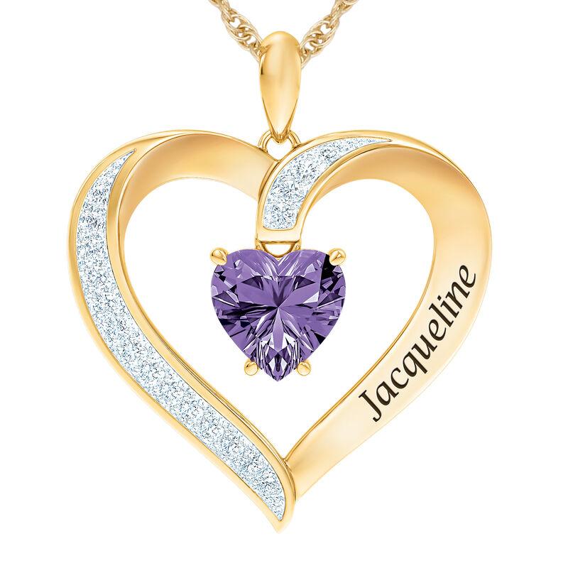 The Birthstone Heart Pendant 6015 0026 b february