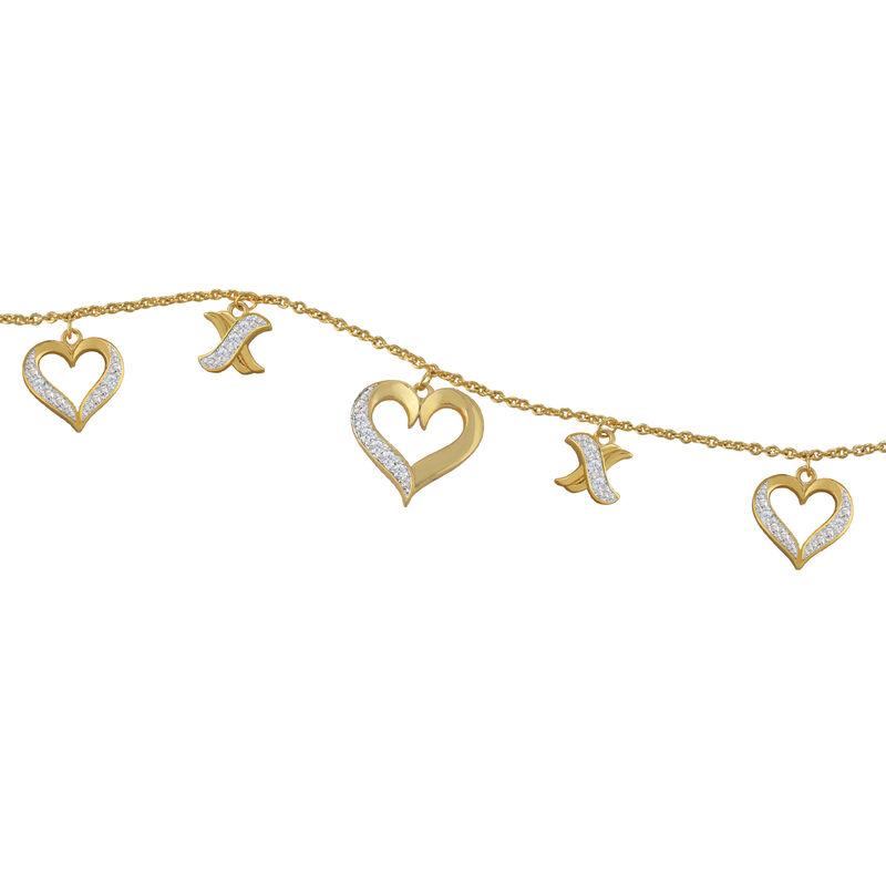 Treasures of Heart Golden Jewelry Set 10338 0010 f bracelt