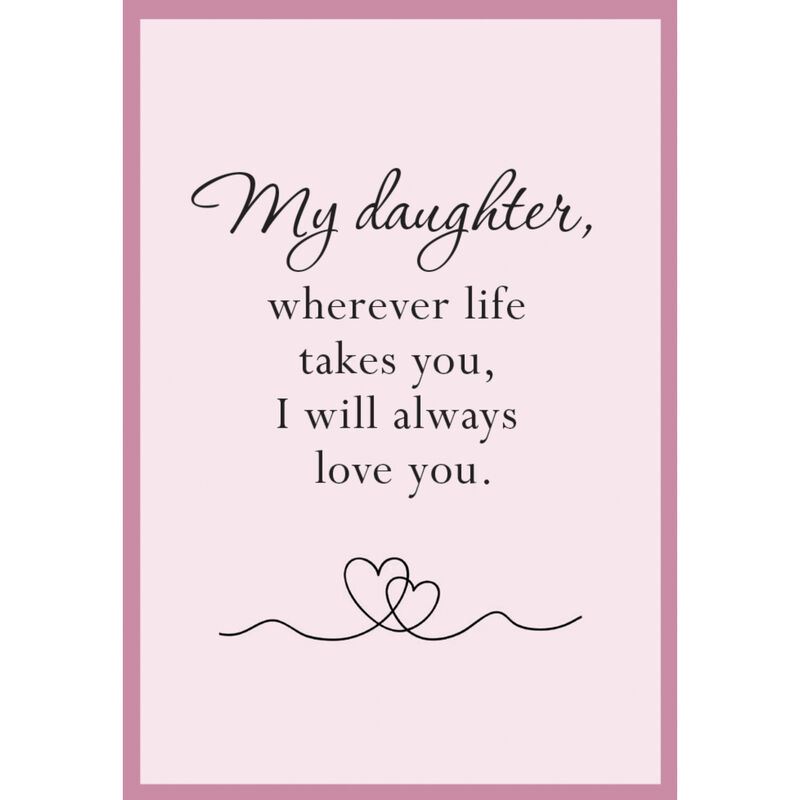 I Will Always Love You Daughter Journey Necklace with Matching Earrings 10496 0018 d poem