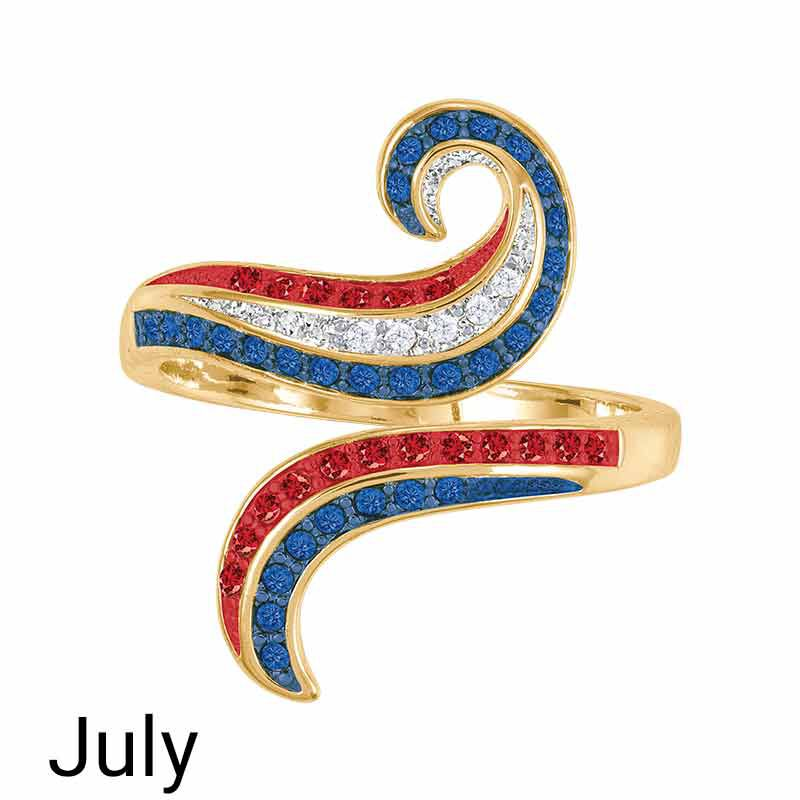 A Colorful Year Crystal Rings   Sizes 9 12 6115 004 1 6