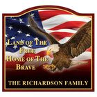 The Home of the Brave Personalized Welcome Sign 6061 001 1 1
