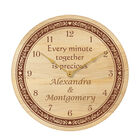 The Personalized Couples Wooden Clock 5612 0017 a main