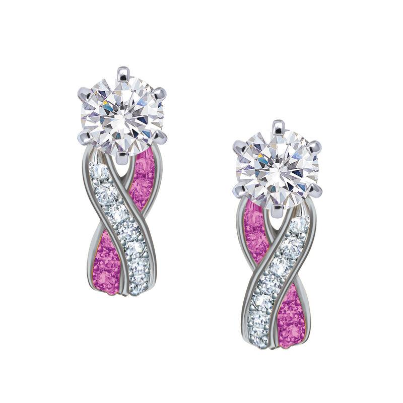 Birthstone Swirl Earrings 10115 0027 j october