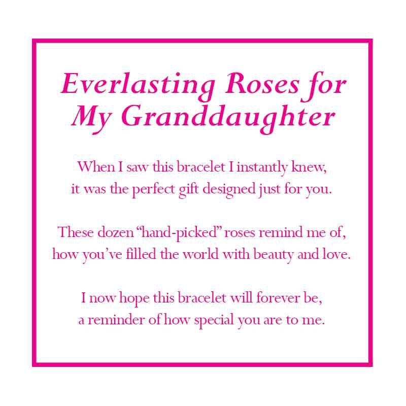 Dozen Roses Granddaughter Bracelet 1519 001 0 5