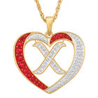 Personalized Diamond Initial Heart Pendant with FREE Poem Card 2300 0060 x initial