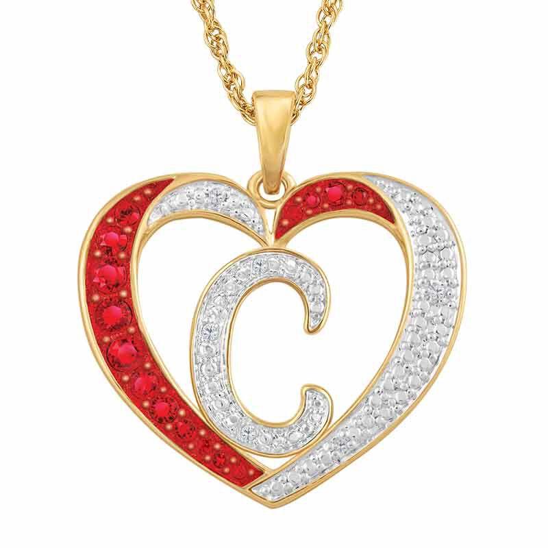 Personalized Diamond Initial Heart Set 2300 005 2 2