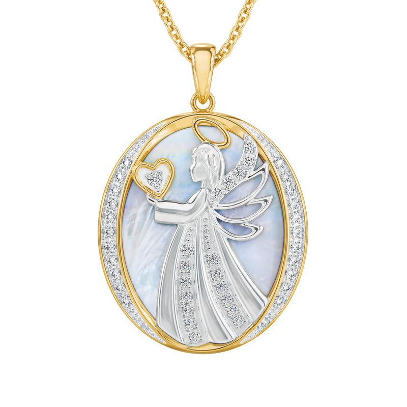 Guardian Angel Diamond Pendant 10114 0010 b front