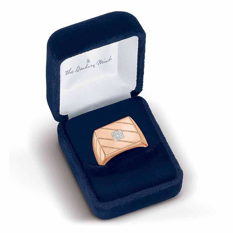 Copper Ice Mens Ring 6394 001 9 3