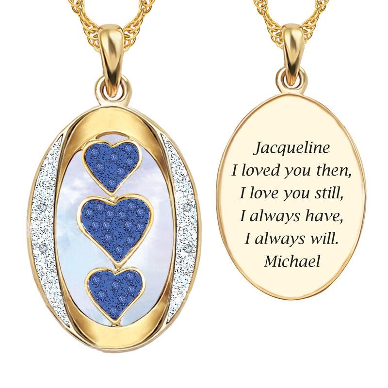 I Love You Custom Birthstone and Diamond Pendant 10702 0018 i september