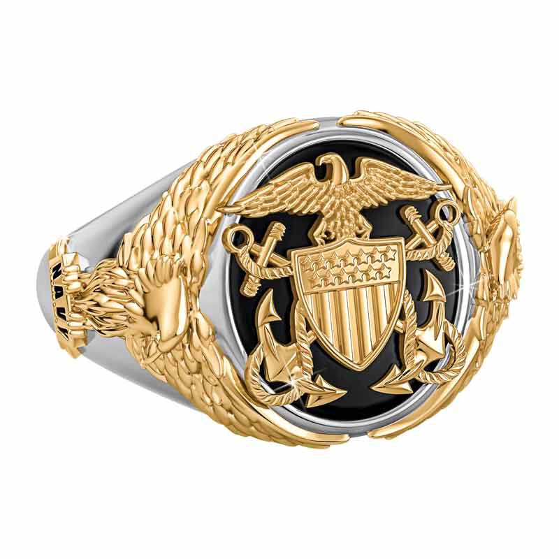 Personalized Navy Eagle Ring 1835 001 7 3
