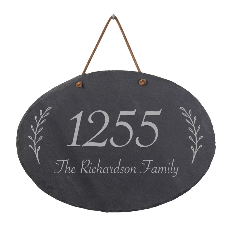 The Personalized Family Slate Address Sign 10607 0014 a main