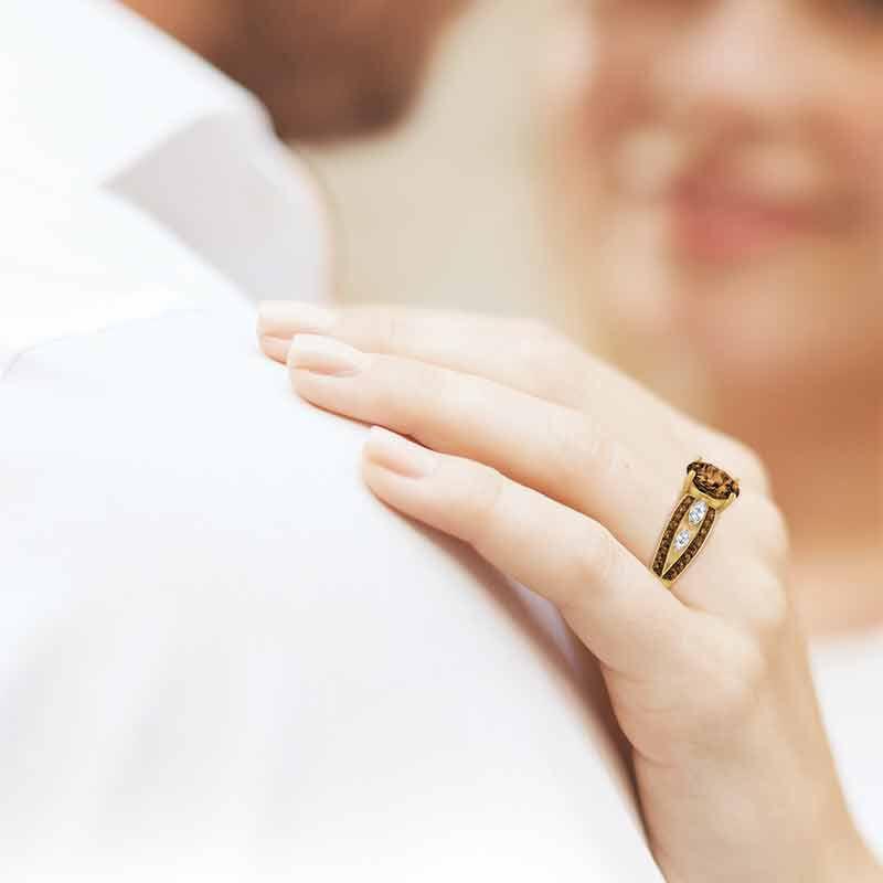 Mocha Majesty Personalized Ring 4921 002 4 3
