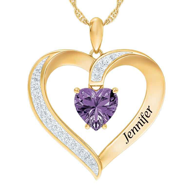 Personalized Birthstone Heart Pendant 5447 001 8 2