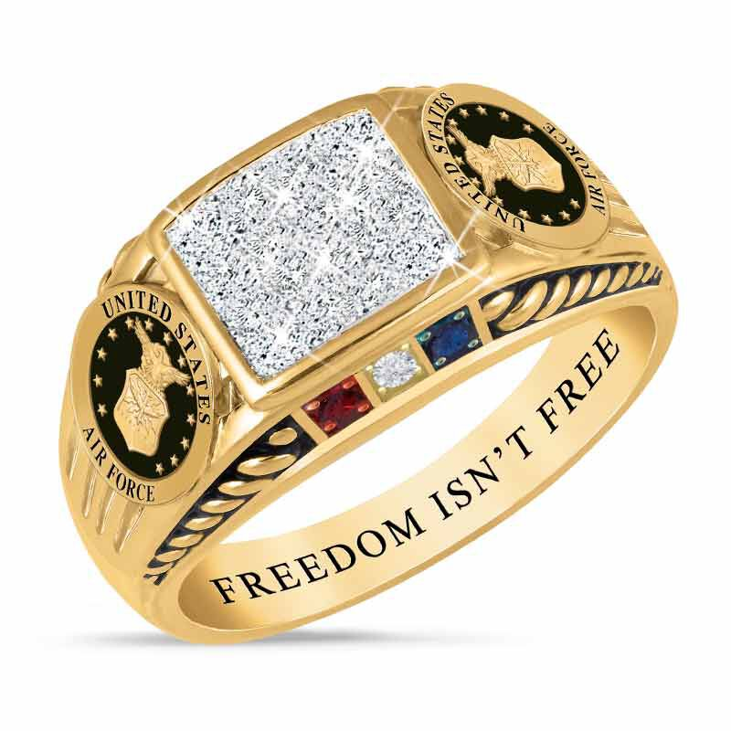 FREEDOM ISNT FREE US Air Force Diamond Patriot Ring 5958 008 4 1
