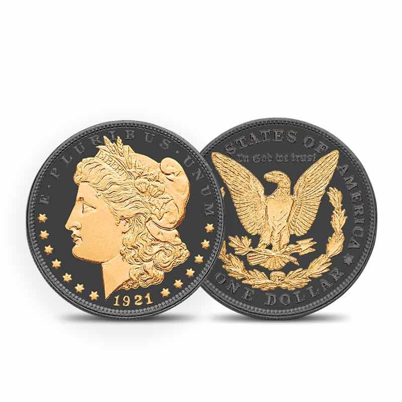 The Ruthenium  24KT Gold Enhanced Morgan Silver Dollars 1798 001 2 1