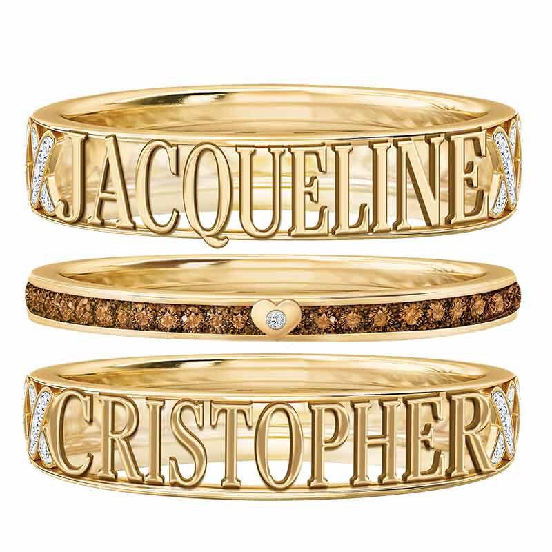 Mocha Kiss Stackable Ring Set 6478 001 8 2