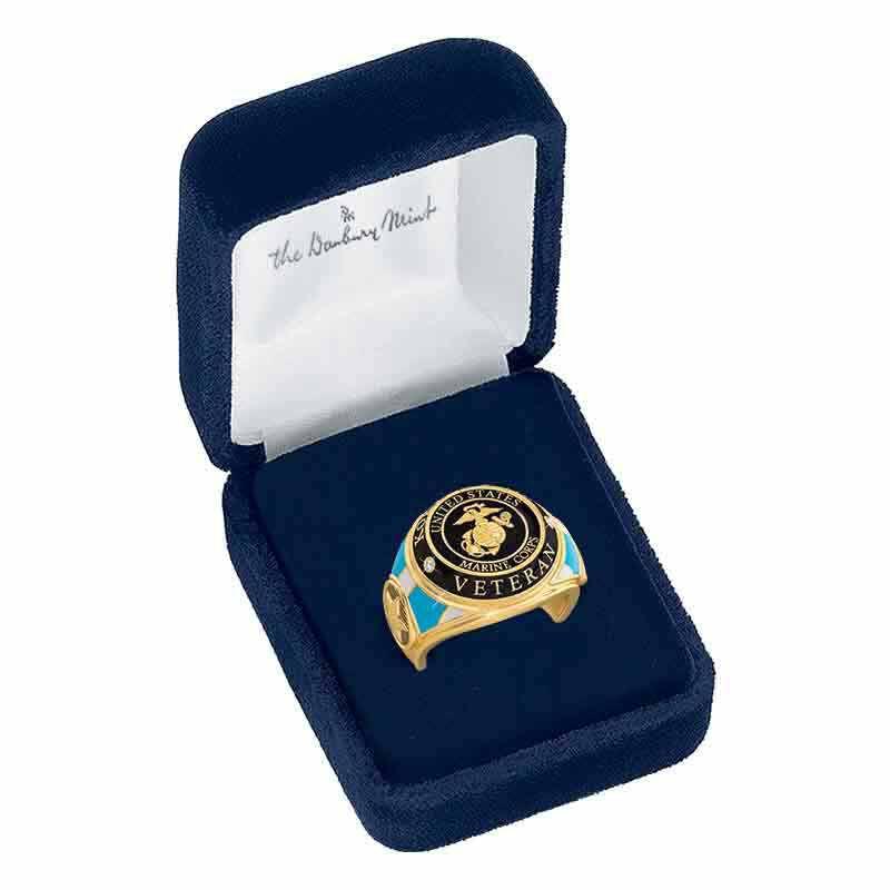 US Marine Corps Veteran Ring 1861 003 0 5